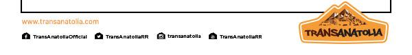 TRANSANATOLIA - RIDE WITH US - 24-31 Ağustos 2019